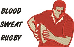 Blood Sweat Rugby embroidery design