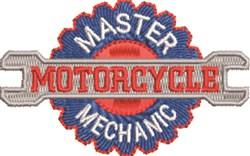 Maser Motorcycle Mechanic embroidery design