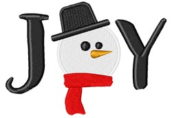 Snowman Joy embroidery design
