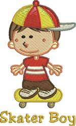 Skater Boy embroidery design