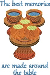 Table Bowls embroidery design