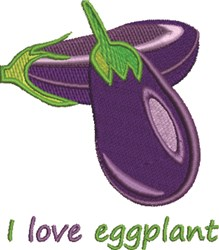 Love Eggplant embroidery design
