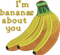 Bananas About You embroidery design