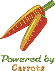 Powered by Carrots embroidery design