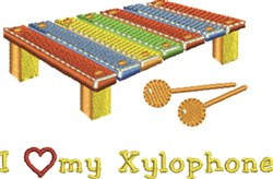 Love My Xylophone embroidery design