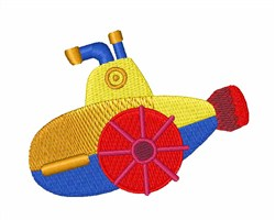 Submarine Toy embroidery design
