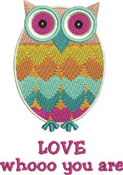 Love Whooo embroidery design