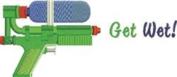 Get Wet Gun embroidery design