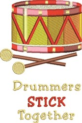 Drumers Stick Toghether embroidery design