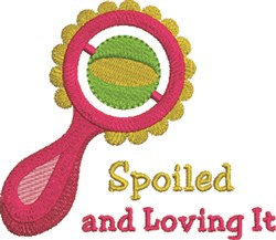 Spoiled Rattle embroidery design