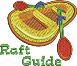 Raft Guide embroidery design