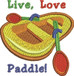Live Love Paddle embroidery design