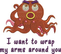 Arms Around You embroidery design