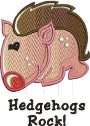Hedgehogs Rock embroidery design