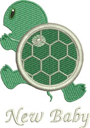 New Baby Turtle embroidery design