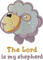 Baby Sheep Lord Shepherd embroidery design