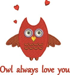 Owl Love You embroidery design