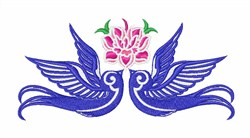 Floral Doves embroidery design