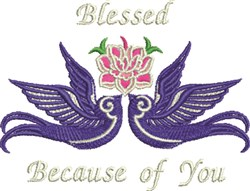 Blessed Doves embroidery design