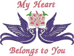 My Heart Doves embroidery design