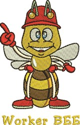 Worker Bee embroidery design