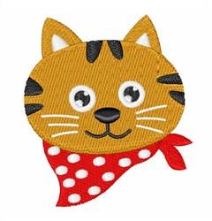 Cat Head & Bandana embroidery design