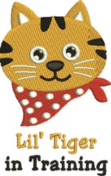 Lil Tiger embroidery design