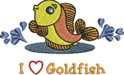 Love Goldfish embroidery design