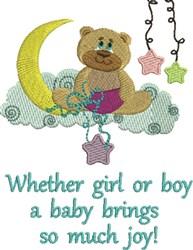 Baby Brings Joy embroidery design
