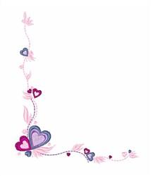 Hearts Corner embroidery design