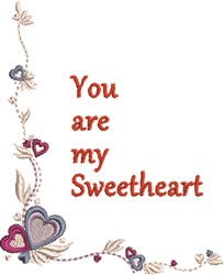 Sweetheart Border embroidery design