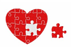 Valentine Heart Puzzle embroidery design