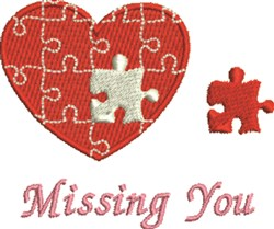 Missing You embroidery design