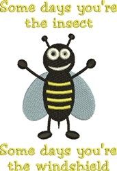 Bumblebee Windshield embroidery design
