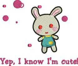 I Know embroidery design