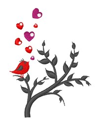Love Bird & Branch embroidery design