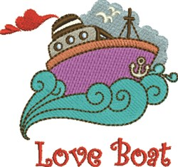 Love Boat embroidery design