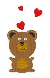 Teddy Bear & Hearts embroidery design