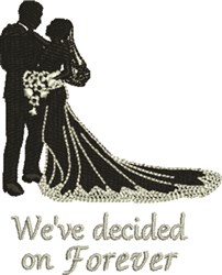 Forever Wedding embroidery design