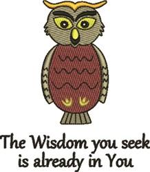Wisdom Inside embroidery design