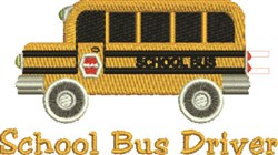 School Bus Driver embroidery design