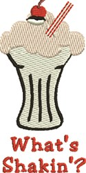 Whats Shakin embroidery design