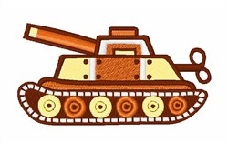 Tank embroidery design