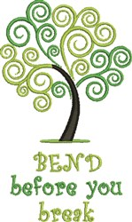 Bend Before Break embroidery design