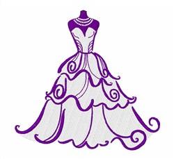 Wedding Dress embroidery design