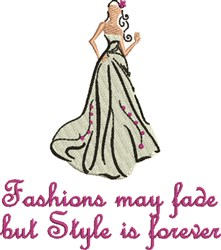 Fashions May Fade embroidery design