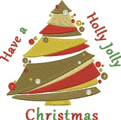 Jolly Christmas embroidery design
