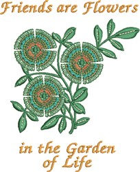 Garden of Life embroidery design