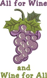 All For Wine embroidery design