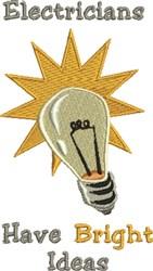Bright Ideas embroidery design